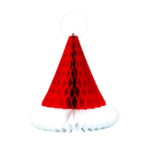Santa Hat Christmas Honeycomb Table Centrepiece Decoration 30cm Product Image