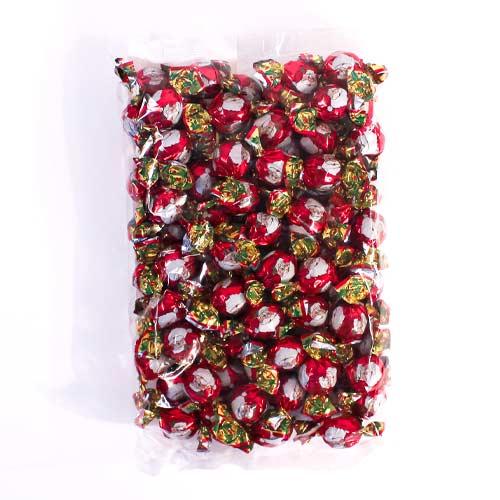 Santa Christmas Milk Chocolate Twists Vegetarian Sweets - Pack of 100 Product Image