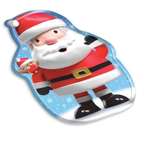 Santa Shaped Christmas Melamine Tray 33cm