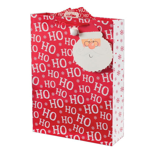 Santa Text Christmas Extra Large Gift Bag 46cm