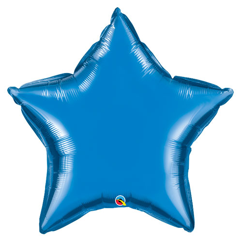 Sapphire Blue Star Helium Foil Giant Qualatex Balloon 91cm / 36 in Product Image