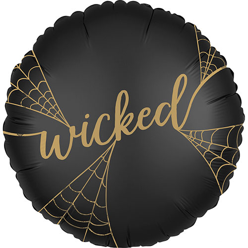Satin Wicked Witches 2 Sided Halloween Round Foil Helium Balloon 45cm / 18 in Product Image