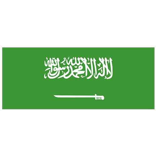 Saudi Arabia Flag PVC Party Sign Decoration 60cm x 24cm