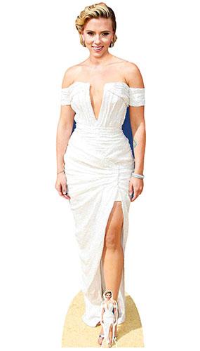 Scarlett Johansson White Dress Lifesize Cardboard Cutout 166cm Product Image