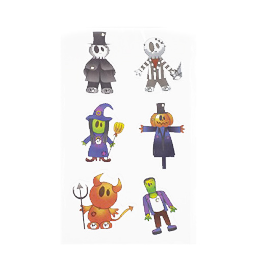 Scary Characters Halloween Gel Window Stickers Decorations Product Image