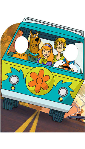 Scooby Doo Adventures Mystery Machine Van Stand In Lifesize Cardboard Cutout 134cm Product Image