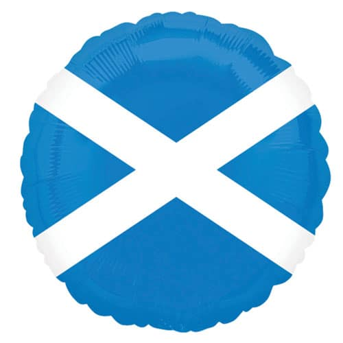 Scotland Flag Foil Helium Balloon 46cm / 18Inch