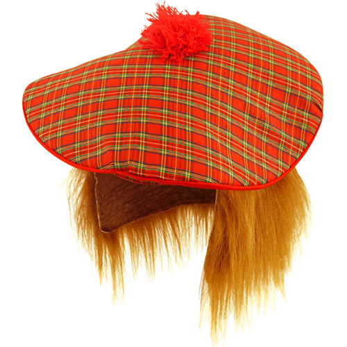 Scottish Hat With Ginger Hair Fancy Dress