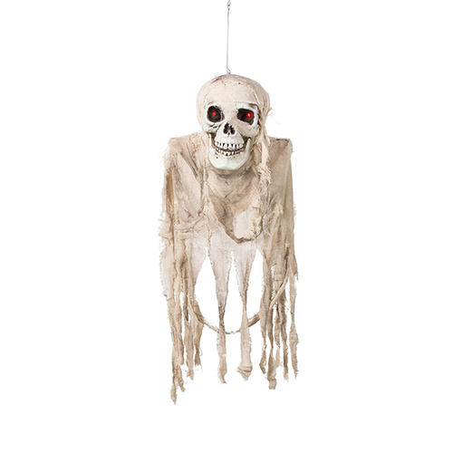 Screwy Skull Halloween Animated Prop Hanging Decoration 80cm