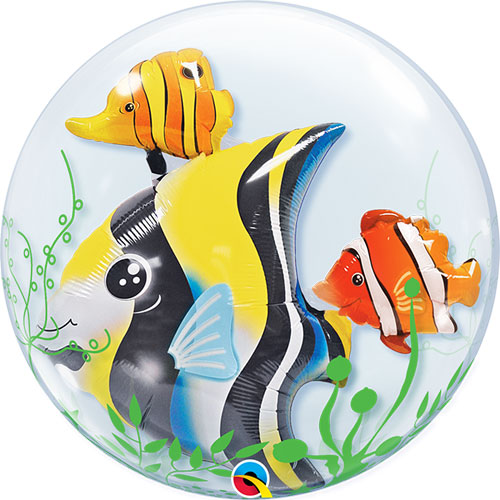Seaweed Tropical Fish Double Bubble Helium Qualatex Balloon 61cm / 24 in Product Image