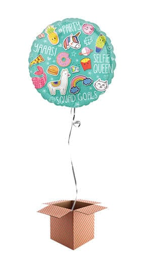 Selfie Celebration Helium Foil Balloon - Inflated Balloon in a Box Product Image