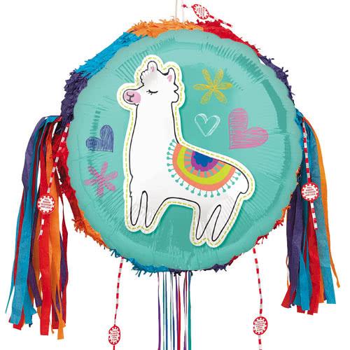 Selfie Celebration Llama Pull String Pinata