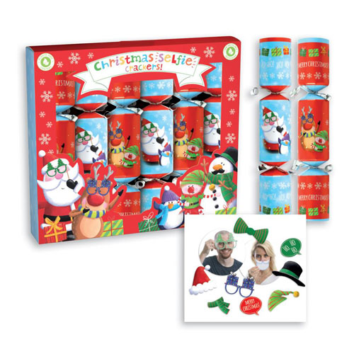 Selfie Christmas Crackers 23cm / 9 in - Pack of 6 Product Image