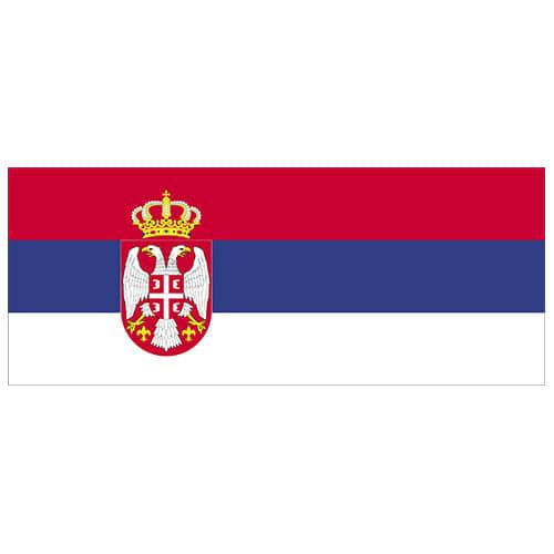 Serbia Flag PVC Party Sign Decoration 60cm x 24cm