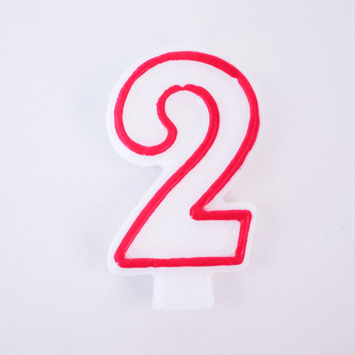Shaped Candle – Number 2 Product Image