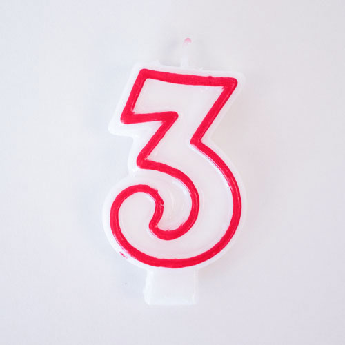 Shaped Candle - Number 3