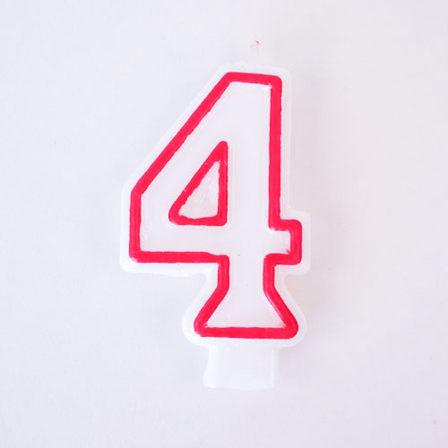 Shaped Candle - Number 4 Product Image