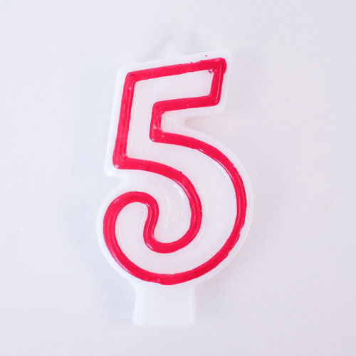 Shaped Candle - Number 5