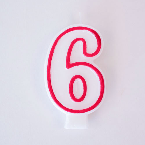 Shaped Candle - Number 6 Product Image