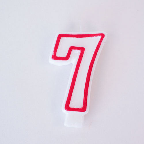 Shaped Candle - Number 7 Product Image