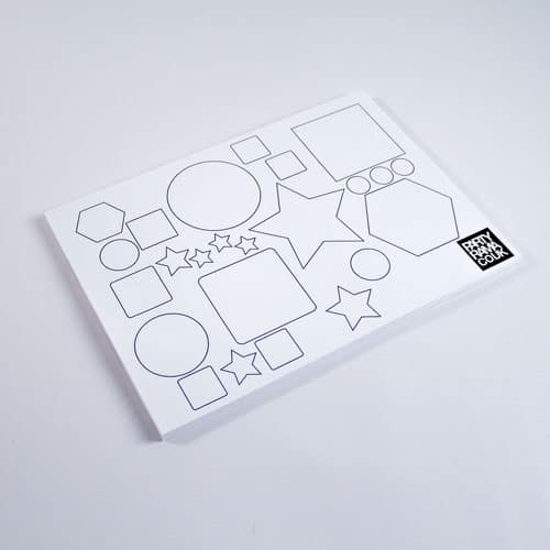 Shapes And Colours Themed A4 Colouring sheet Product Image