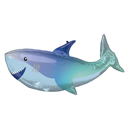 Shark Shaped Helium Foil Giant Balloon 96cm / 38 in Product Image