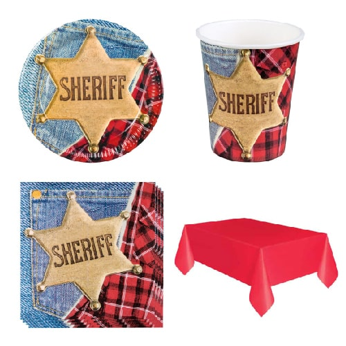 Sheriff Wild West 6 Person Value Party Pack