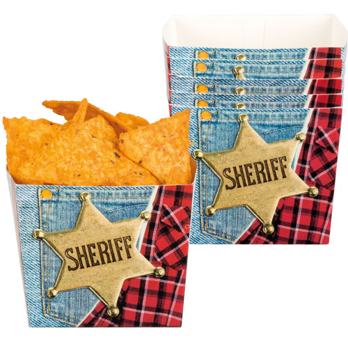 Sheriff Wild West Paper Bowls - Pack of 6