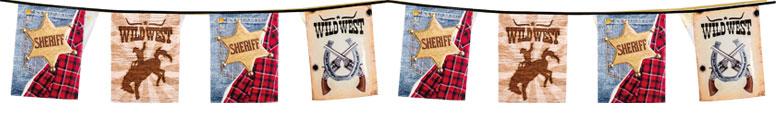 Sheriff Wild West Plastic Bunting 6m Product Image