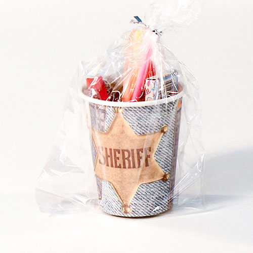 Sheriff Wild West Toy And Candy Cup Product Image