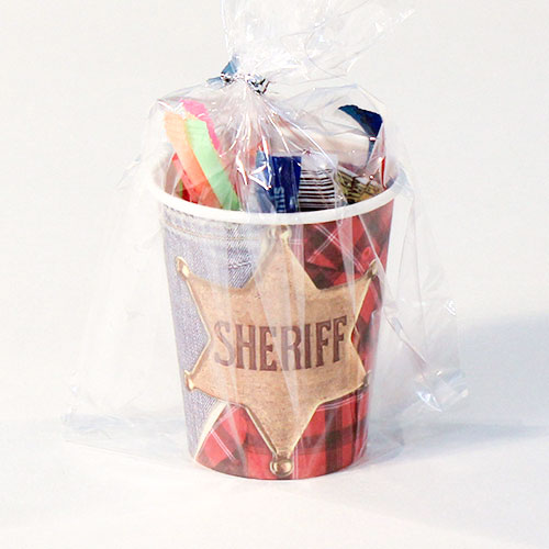 Sheriff Wild West Value Candy Cup Product Image