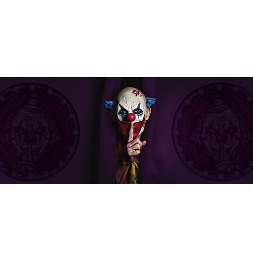Shhh Clown Halloween PVC Party Sign Decoration 60cm x 25cm Product Image