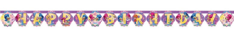 Shimmer And Shine Happy Birthday Letter Banner 2m Product Image