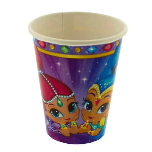 Shimmer And Shine Paper Cups 266ml - Pack of 8 Product Image