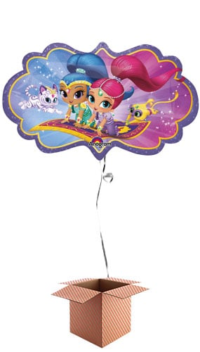 Shimmer And Shine Helium Foil Giant Balloon - Inflated Balloon in a Box Product Image