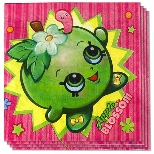 Shopkins Luncheon Napkins 33cm 2Ply Pack of 16