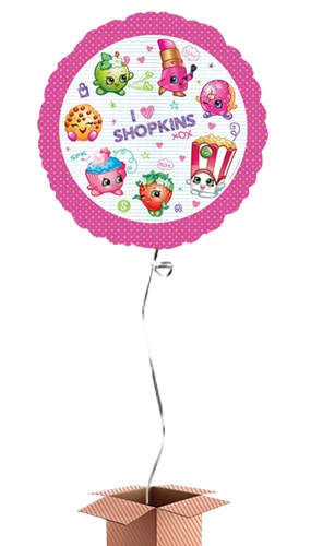Shopkins Round Foil Balloon - Inflated Balloon in a Box