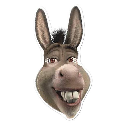 Shrek Donkey Cardboard Face Mask Product Image