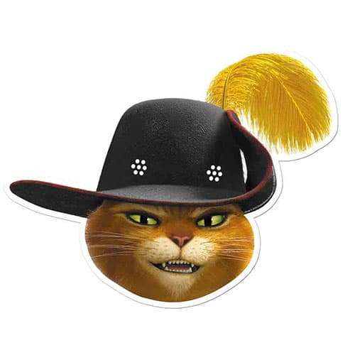 Shrek Puss In Boots Cardboard Face Mask Product Image