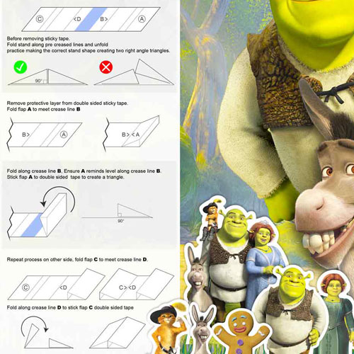Shrek Table Top Cutout Decorations - Pack of 10 Product Gallery Image