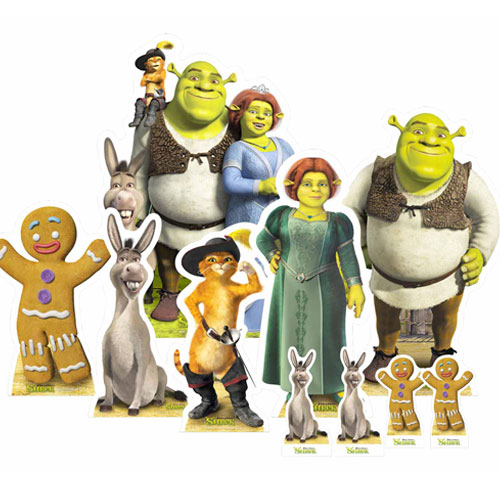 Shrek Table Top Cutout Decorations - Pack of 10