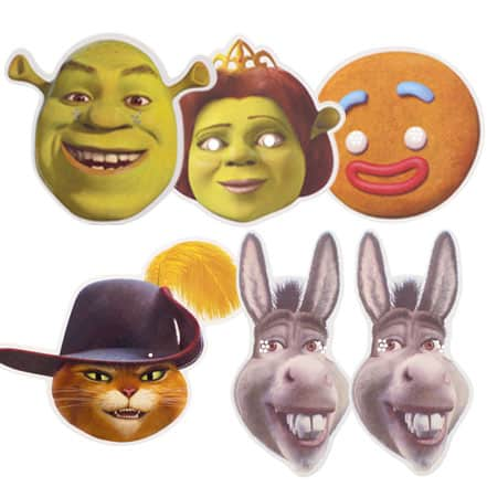 Shrek The Movie Character Face Masks - Pack of 6 Product Image