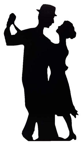 Silhouette Couple Dancing Lifesize Cardboard Cutout - 182cm Product Image