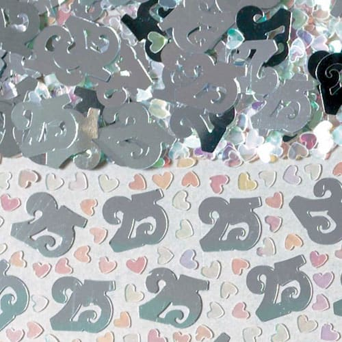 Silver 25 Table Confetti - 14 Grams Product Image