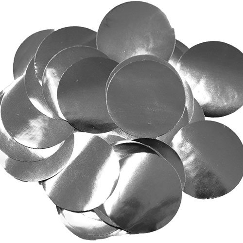 Silver 25mm Giant Round Foil Table Confetti 50g Product Image