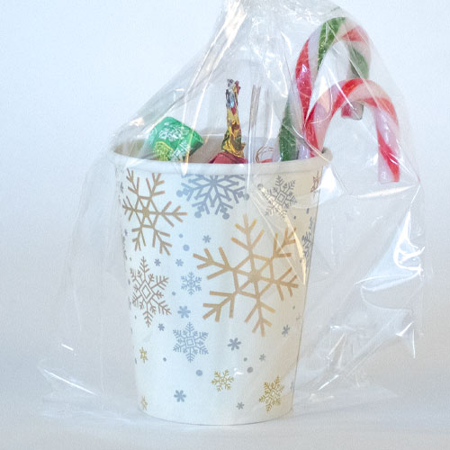 Silver And Gold Snowflakes Christmas Candy Cup Product Image