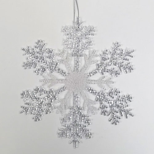 Glitter Assorted & Clear Acrylic Christmas Snowflake Hanging Decoration 26cm Product Gallery Image