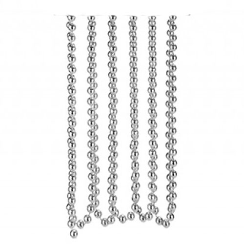 Silver Bead Chain Christmas Decoration 2.7m Product Image