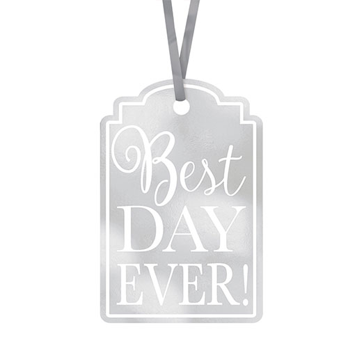 Silver Best Day Ever! Tags - Pack of 25 Product Image