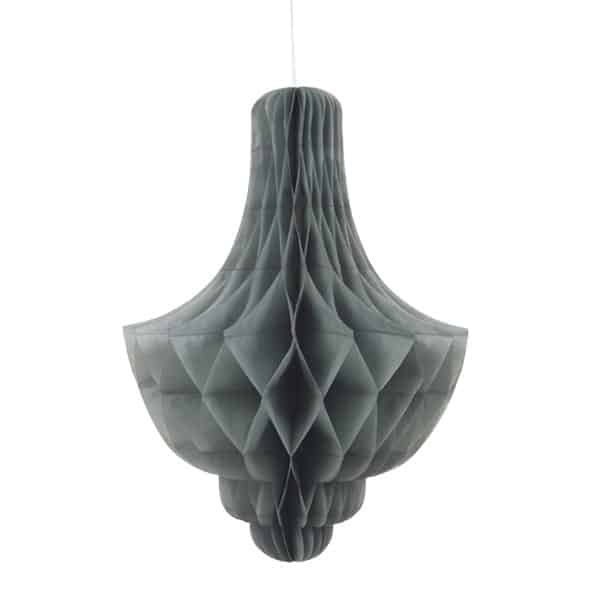 Silver Chandelier Honeycomb Hanging Decoration 35cm Product Image